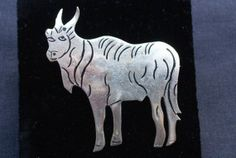 Sterling Silver Signed Mexican Yak Brooch by pasttimejewelry, $30.00
