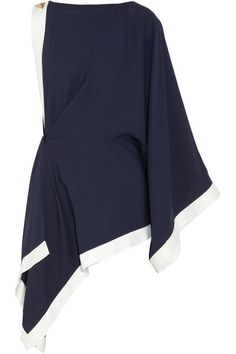 Vionnet | Asymmetric draped jersey-crepe top | NET-A-PORTER.COM
