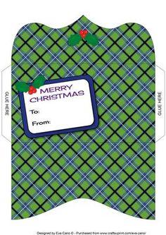 Christmas Tartan Money Wallet 5 on Craftsuprint - Add To Basket!