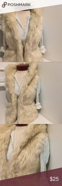 NEW* TAGS* SABINE FAUX FUR VEST Brand new with tags FULLY LINED FAUX FUR vest  I#409533014995 Sabine Jackets & Coats Vests