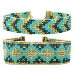 Loom Bracelet Duo - Hemingway Teal - Exclusive Beadaholique Jewelry Kit