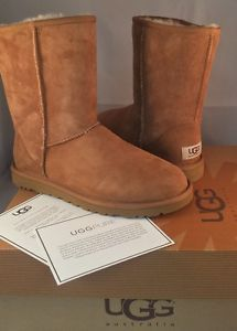 UGG Australia Womens Shoes Classic Short Chestnut Boots 5825 Genuine Size 7