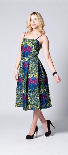 Strappy Dress, Floral Dress, Print Dress, Spring Dress, Midi Dress, Festival Dress, Boho Dress. Ankara | Dutch wax | Kente | Kitenge | Dashiki | African print dress | African fashion | African women dresses | African prints | Nigerian style | Ghanaian fashion | Senegal fashion | Kenya fashion | Nigerian fashion | Ankara crop top (affiliate)