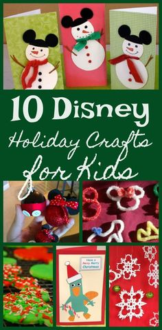 Disney Christmas Crafts, Disney Crafts For Kids, Crafts For Teens To Make, Holiday Crafts For Kids, Christmas Activities, Toddler Crafts, Christmas Fun, Kids Crafts, Family Crafts