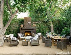 #Outdoor #Fireplace #garden #home #backyard #table