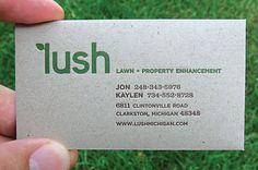 business card grain