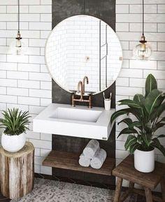 Außergewöhnliche weiße Badezimmerideen Home Design - home decor diy Exceptional white bathroom ideas home design ideas Budget Bathroom, Bathroom Inspo, Bathroom Inspiration, Small Bathroom, Diy Bathroom, Bathroom Plants, Mirror Bathroom, Design Bathroom, Bathrooms With Plants