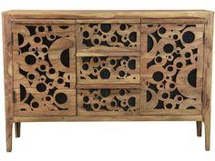 Komoda Bubbles cm naturalna - Ta drewniana komoda w stylu vintage to p… Solid Wood Sideboard, Shabby, Vintage, Buffet, Decorative Boxes, Bubbles, Beige, Cabinet, Storage
