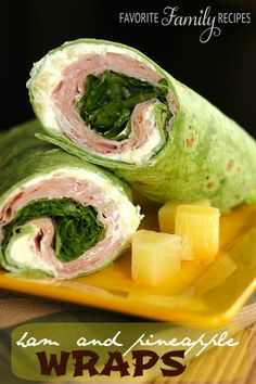 These ham and pineapple wraps are so easy to make and really yummy. Great for picnics now that the weather is getting warmer! #hampineapplewrap #wraprecipe