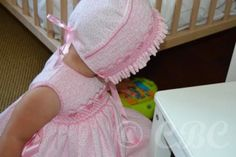 Faldón Mali Liquidación de stock | Bebes CBC smocked bonnet without the gathered fullness