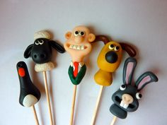 Wallace and Gromit Character Cake Toppers - Handmade. $31.30, via Etsy.
