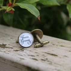 Wedding Cufflnks Team Groom Cufflinks by OverTheMoonBridal on Etsy