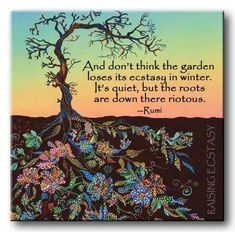 Maybe you are searching among branches for what only appears in the roots - Rumi .Rumi was born to native Persian-speaking parents, originally from the Balkh, in present-day Afghanistan. Rumi Quotes, Yoga Quotes, Life Quotes, Inspirational Quotes, Roots Quotes, Cat Quotes, Deep Quotes, Nature Quotes, Relationship Quotes