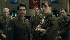 Video Still: The Ghost of You (3 Cheers for Sweet Revenge). WWII setting. Bob Bryar, Gerard Way, Ray Toro, Mikey Way, Frank Iero.