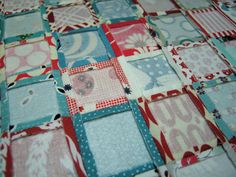 Use lightweight fusible interfacing to help quick-piece tiny squares. Using this method, I was able to piece the 81 squares in this mini quilt in less than 1 hour.