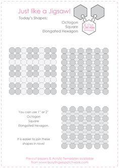 English Paper PIecing - Pattern - Just Like A Jigsaw Part 3