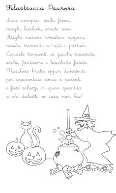 Halloween Kids, Happy Halloween, Diy And Crafts, Crafts For Kids, Halloween Coloring Pages, Fall Deco, Italian Language, Learning Italian, Nursery Rhymes