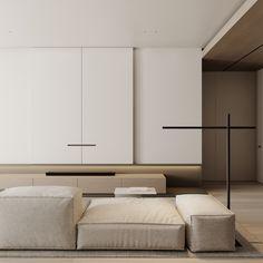 Living room Modern Interior, Interior Architecture, Interior Design, Living Room Designs, Living Spaces, Modular Sofa, Living Room Interior, White Walls, New Homes