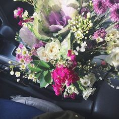 delivered this pretty giveaway today & it fit perfectly in the cup holder. #deliverygirl #rosmemaryandrust