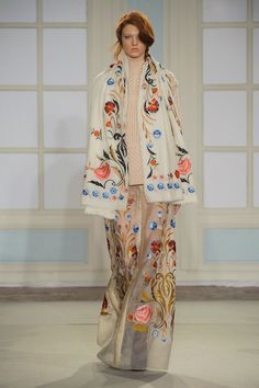"""Temperley's Sexy New Look is More Than Just Fashion Folklore: Alice Temperley hailed """"the start of a new and exciting era"""" at London Fashion Week today, leading the Temperley girl down a sexier path for Fall Style Couture, Couture Fashion, Runway Fashion, London Fashion, British Fashion, Fashion Week, High Fashion, Fashion Show, Fashion Trends"""