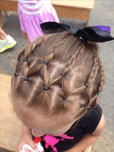 Little Girl Hairstyle - Cute hair for dance recital.