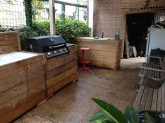 image15 600x450 My Bar n Grill made out of pallets in pallet outdoor project  with pallet Outdoor kitchen grill bbq Bar