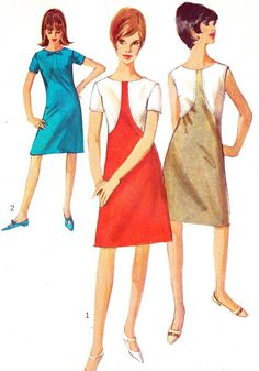 1960s Dress Pattern Simplicity 6350 Mod Color Block by paneenjerez, $14.00