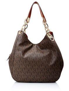 New Top-Handle Bags Michael Kors Fulton Large Shoulder Tote Brown Gucci, Fendi, Handbags Michael Kors, Michael Kors Bag, Prada, Valentino Bags, Michael Kors Fulton, Luxury Handbags, Bag Sale