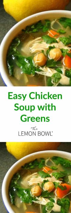Loaded with fresh veggies and plenty of lean protein, this is the perfect meal-in-a-bowl chicken soup that will warm the belly and soul. #chicken #soup #comfortfood #highprotein Chicken And Cabbage, Chicken Soup, Soul Chicken, Slow Cooker Soup, Slow Cooker Chicken, Soup Recipes, Healthy Recipes, Oven Recipes, Crockpot Recipes