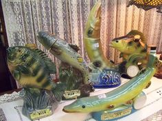 Jim Beam Collection of Jim Beam Decanters...Fish Series from the 1970's Second Time Around Antiques - Braidwood, Illinois