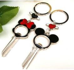 I Love You Mickey mouse Couple Key Chain
