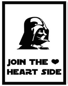 We're in the homestretch of my A to Z Valentine Printables. Today is the Letter V. V is for Vader...as in Darth Vader. You do kno...