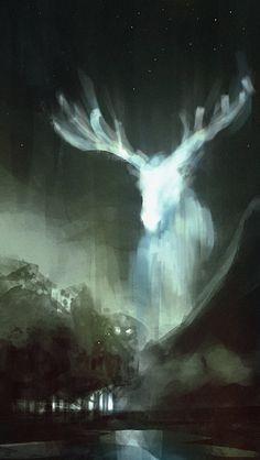 White Moose by The Art of Nagy Norbert Fantasy Magic, Dark Fantasy, Fantasy Art, Deer Art, Fantasy Landscape, Fantasy Creatures, Amazing Art, Cool Art, Art Drawings