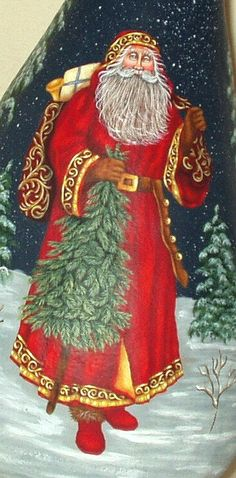 Daughter and Grandchildren (and Grandma) visited with Father Christmas today. What a sweet gentle man he is. Christmas Scenes, Noel Christmas, Victorian Christmas, Father Christmas, Ukrainian Christmas, Vintage Christmas Images, Christmas Pictures, Santa Pictures, Vintage Santa Claus