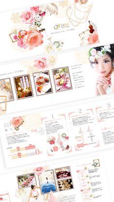 パンフレット|ブライダル Japan Design, Ad Design, Graphic Design Art, Flyer Design, Layout Design, Editorial Layout, Editorial Design, Web Japan, Fashion Web Design