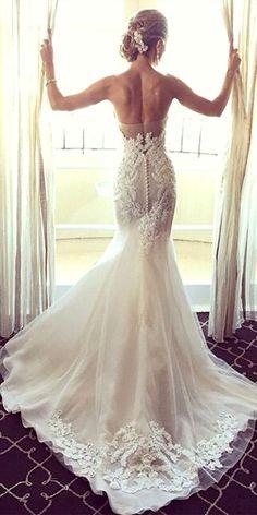 Mermaid Wedding Dresses From Top World Designers ❤ See more: www.weddingforwar... #weddings