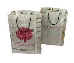 recycled newspaper bags - can be beautifully decorated or made with wrapping paper