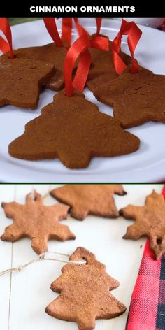 Cinnamon ornaments were always one of my favorite creations that we made each winter. They smell like Christmas and look so magical hung on the tree. You'll have all these Christmas favorite ingredien Christmas Tree Ornaments To Make, Gingerbread Christmas Tree, Christmas Tree Brownies, Christmas Crafts For Kids, Homemade Christmas, Christmas Fun, Gingerbread Ornaments, Christmas Videos, Diy Ornaments For Kids