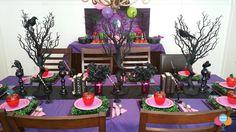 Decoração Festa Descendentes mesa bolo docinhos descendants