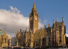 Victorian Manchester (UK) Town Hall is a superb example of Victorian Gothic Revival architecture to give the city its distinctive character.