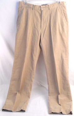 POLO RALPH LAUREN Mens Corduroy Pants Classic Fit Size 36Wx32L Beige #PoloRalphLauren #mensCorduroypants