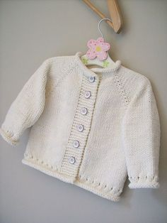 Baby Knitting Patterns Ravelry: Project Gallery for Cupid pattern by Melissa Schasc. Baby Knitting Patterns Ravelry: Project Gallery for Cupid pattern by Melissa Schasc. Baby Sweater Patterns, Baby Cardigan Knitting Pattern, Knitted Baby Cardigan, Knit Baby Sweaters, Knitted Baby Clothes, Girls Sweaters, Baby Patterns, Baby Knits, Baby Outfits