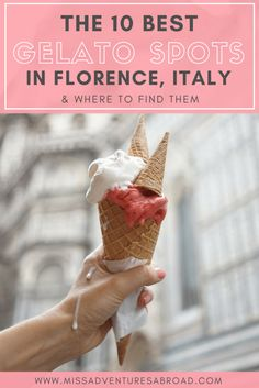 top ten gelato places in florence italy