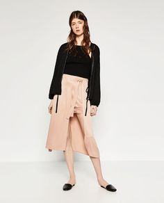 ZARA - TRF - DOUBLE LAYER LACE SKIRT