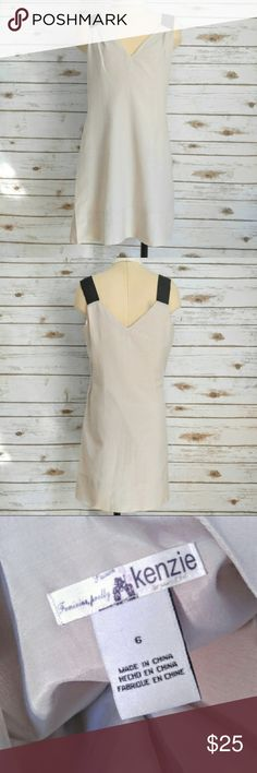 Kenzie Lightweight Neutral V Neck Dress Kenzie Lightweight Neutral V Neck Dress  Size 6 in excellent condition. Silk blend material. Lined and lightweight. Perfect for warm days. kenzie Dresses Mini