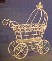 wire baby carriage