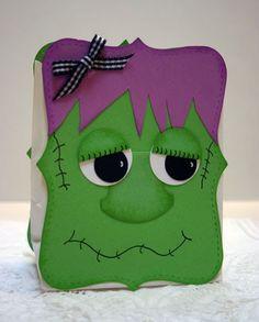 Frankenstein treat bag  Fiendishly cute!