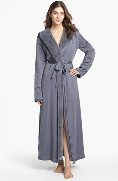 Donna Karan Plush Lined Robe | Nordstrom