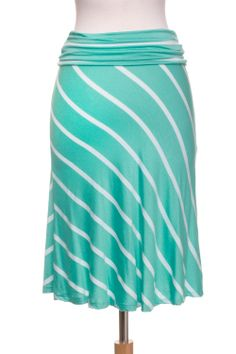 Dressing Your Truth - Type 1 Minty Stripes Skirt