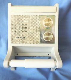 50u0027s BATHROOM STEWART AM TRANSISTOR RADIO U0026 TOILET PAPER ROLL HOLDER  COMBINATION